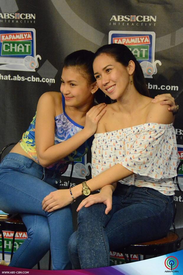 PHOTOS: Star Magic Angels Shey Bustamante and Karen Reyes on Kapamilya Chat
