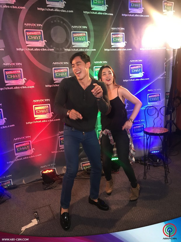 Meg Imperial and Victor Silayan on Kapamilya Chat
