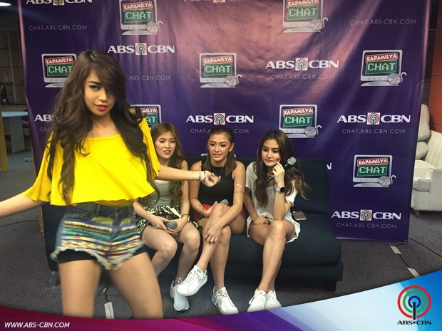 Girltrends Riva, Mikee, Chienna and Kamille on Kapamilya Chat