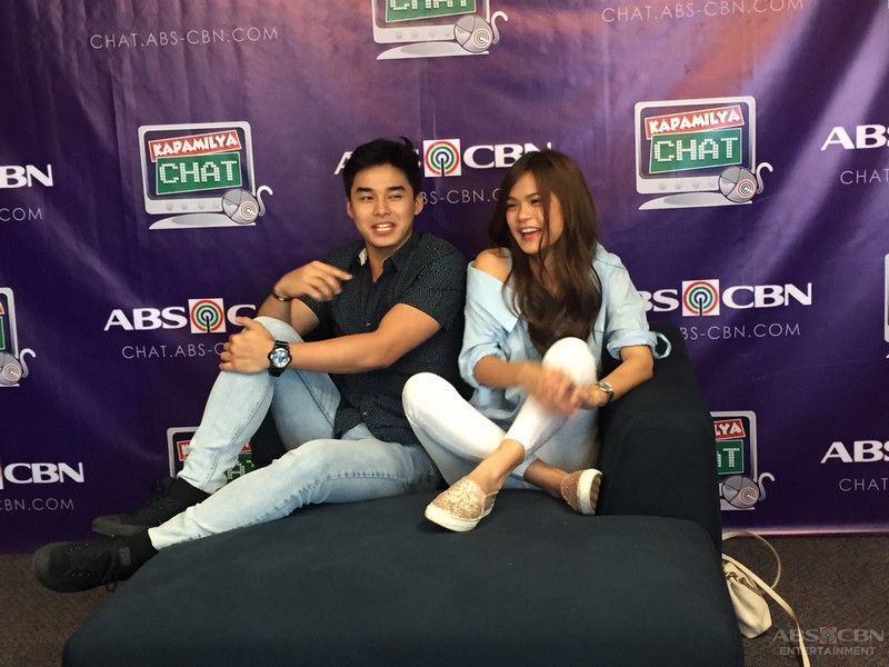 Newest loveteam Mccoy and Maris on Kapamilya Chat
